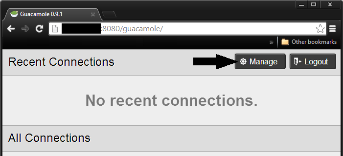 Guac Manage Button